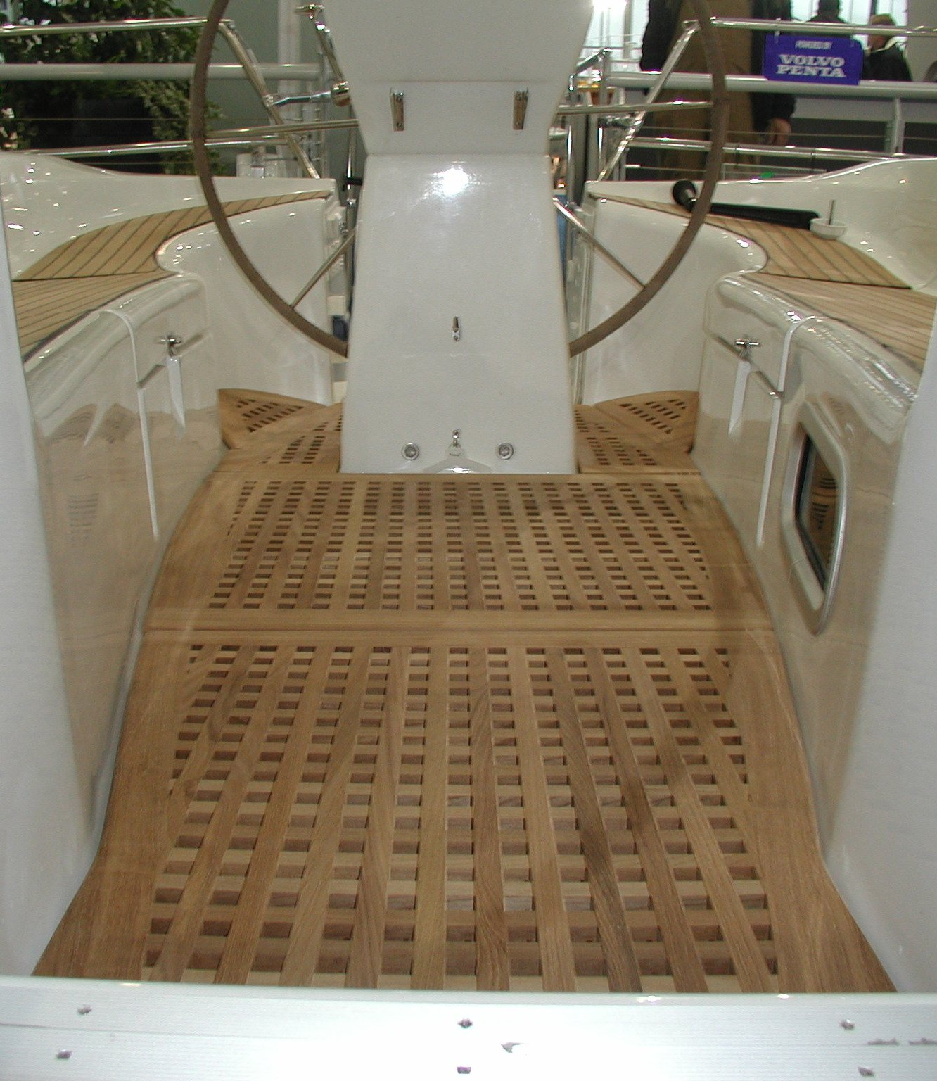 View on a cockpitgrate for Bavaria 36 aftcockpit