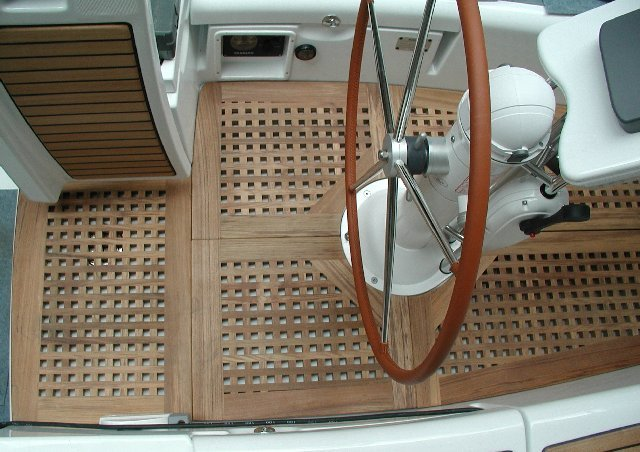 View on a cockpitgrate for Beneteau sailing boat
