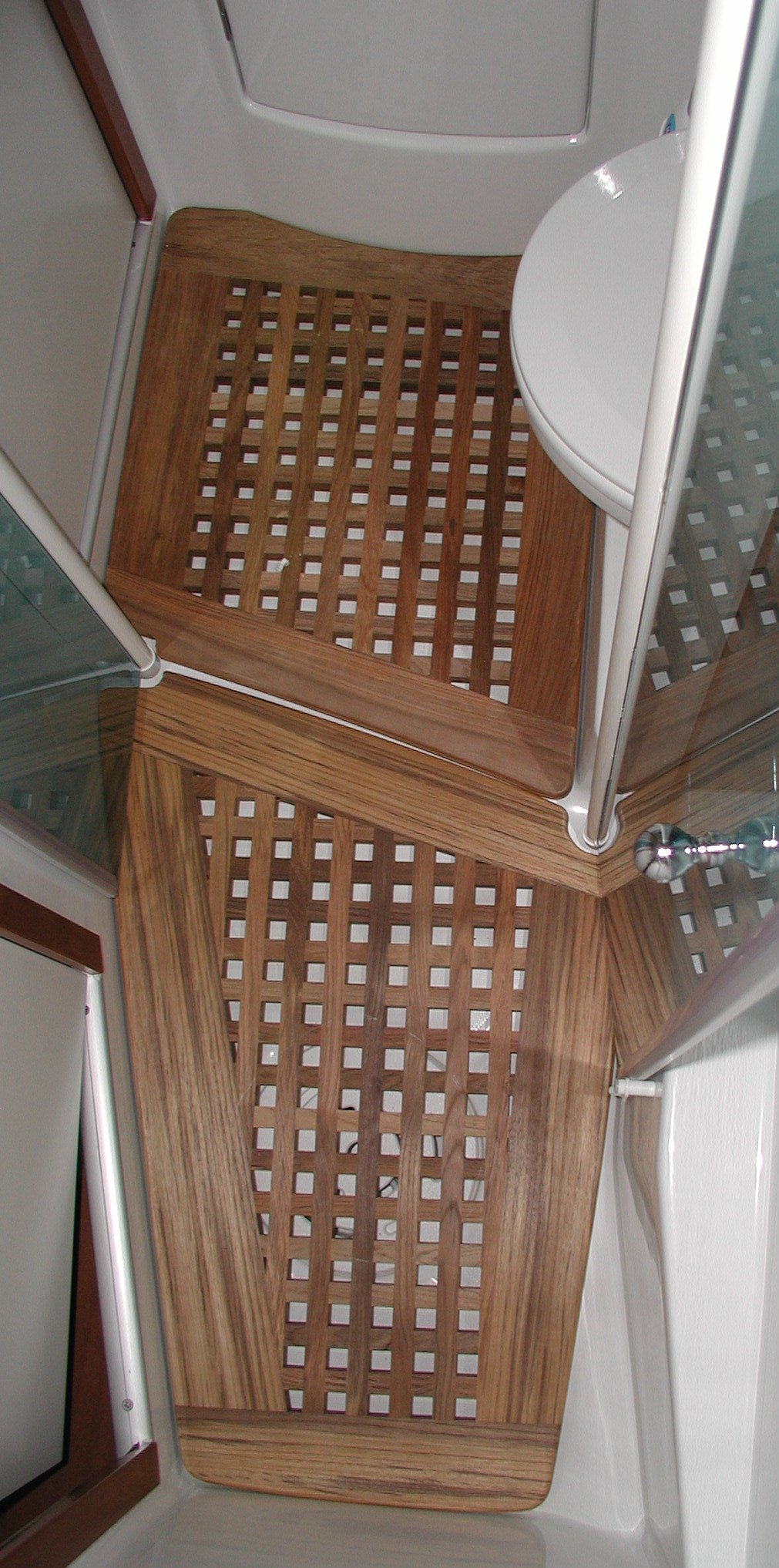 View on a grating for a head, Beneteau sailing yacht